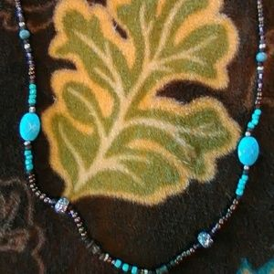 Jewelry - Wooden Bead & Turquoise Necklace